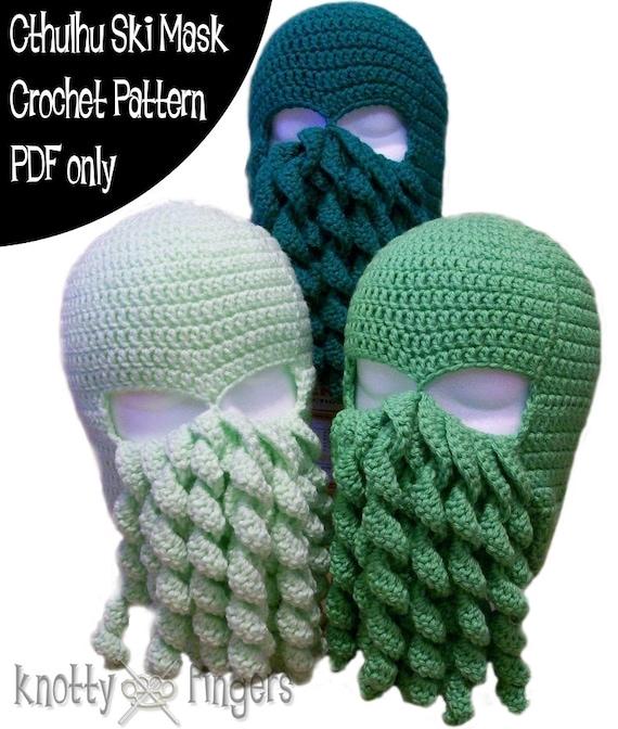 Crochet Pattern Cthulhu Ski Mask Pdf File Only