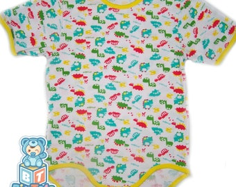 Adult Baby DINOSAURS   snap crotch Bodysuit abdl