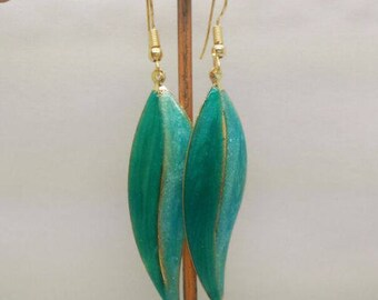 lovely green enamel earrings