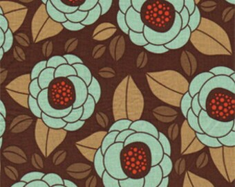 Patchwork Brown and turquoise, JOEL DEWBERRY AVIARY 2 fabric