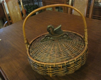 Stunning Large Woven Basket with Lid