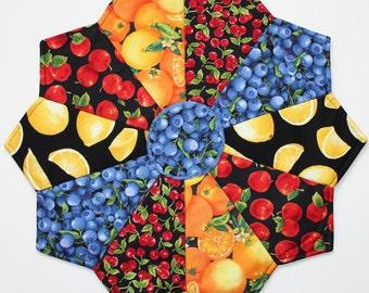 Slice of Fruit Pizza Pattern & Kit / Table Runner Pattern / Summer Runner Pattern