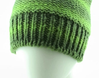 Medium size hand-knit beanie