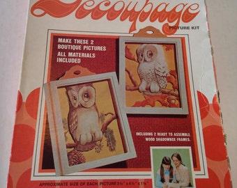Vintage 3-D Miniature Decoupage Kit by Craft Master 1973