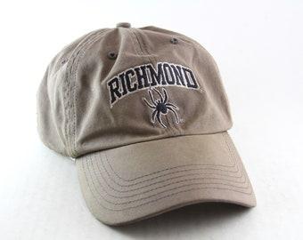 Vintage Richmond Spiders Light Brown Baseball Cap // Distressed University Of Richmond Virginia // U of R