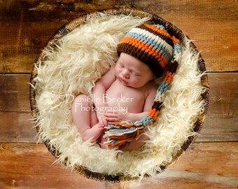 Boys Autumn Elf  Photo Prop Hat