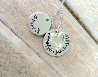 Grammy Metal Necklace, Family Necklace, Mommy Necklace, Nana Necklace, christmas gift for mon, christmas gift for grandma