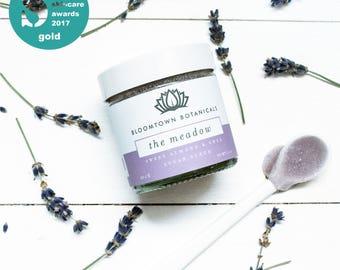 Exfoliating & Moisturising Sugar Scrub: The Meadow (Lavender and Rose Geranium) - Vegan, Cruelty-Free, Palm Oil-Free