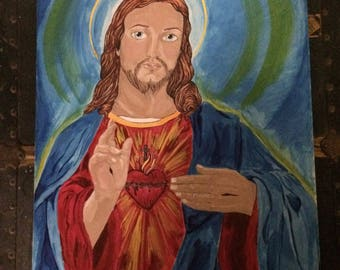 Jesus painted using tattoo ink