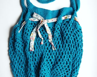crocheted bag, shopping
