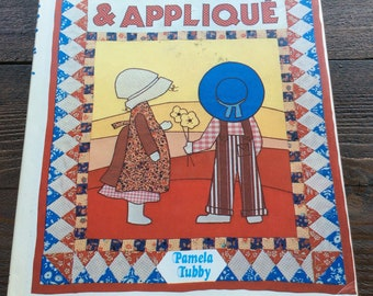 1985 Patchwork and appliqué book, hardback pamela tubby