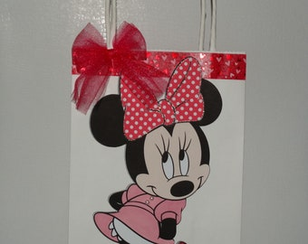 Disney, Minnie Party favor bags, set of 4, 6 and 10 bags. Fuschia, pink