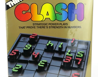 Vintage 1986 Think Series CLASH Strategy Board Game 2 Player (Brand New/Sealed)