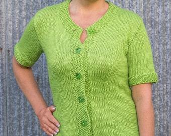 PDF Knitting Pattern Charleston Top-Down Cardigan #109