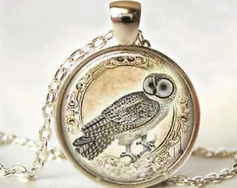 Owl Necklace - owl jewelry - owl pendant - silver owl - silver owl necklace - owl charm - owl gift - owl charm necklace - owl jewellery