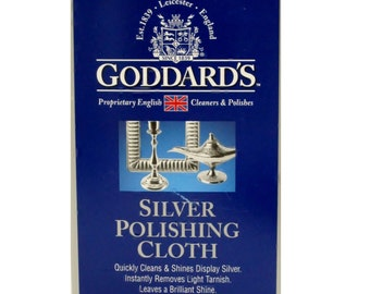 Goddards Long Shine Silver Polishing Cloth 100% Cotton