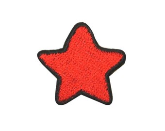 aa6131a206a ID 1054A Red Patriotic Star Patch America Craft Embroidered Iron On Applique