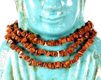 "VINTAGE: 36"" Goldstone Chip Strand - Natural Stone Beads - Gemstone Beads - SKU 7-A6-00008599"