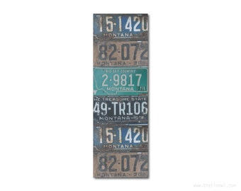 Bookmark Montana License Plates   Stocking Stuffer   Gifts Under 5   Book Lover   Montana Pride