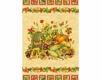 Northcott Harvest Blessings Panel by Deborah Edwards