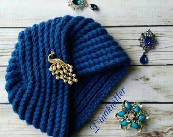 Wool hat.turban hat.knitted turban.crochet turban.winter beanie.knitted hat.women's turban.fashion turban.retro turban.turban headwrap.