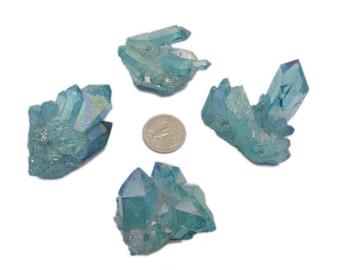 Aqua Aura Crystal Quartz Point Cluster - You CHOOSE (RK86B7-08)