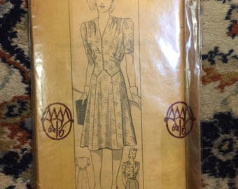 Marian Martin dress pattern...sealed and from the 1940s!
