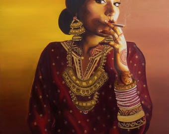 SALE - Badass Indo-Chinese Bride (2015) - Canvas Giclee Print