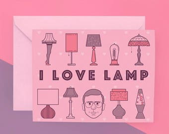 I Love Lamp Card