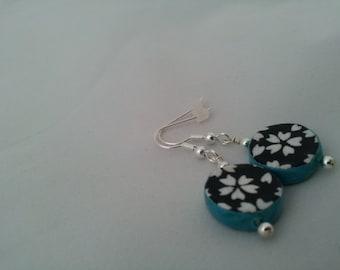 Pressed Paper Earrings
