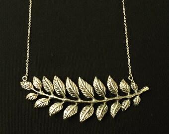 Brass Gold Leaf Necklace