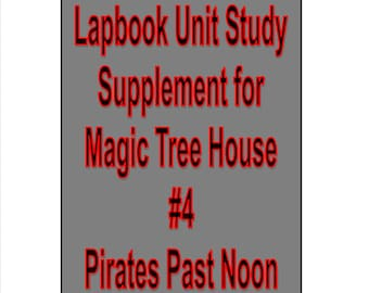 Lapbook unit study Supplement for Magic Tree House book 4 Pirates