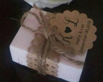 50 Rustic Handmade Mini Favor Soaps Aromatherapy Spa Relaxation Skin Care Wedding Birthday Bachelorette Bridesmaid Anniversary