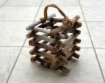Primitive Tabletop Driftwood  Lantern