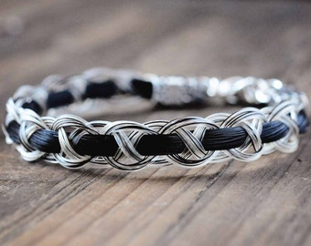 Custom horse hair bracelets and horse jewelry by shdstudios sterling silver horse hair bracelet custom horse hair jewelry horse lover gift equestrian solutioingenieria Choice Image