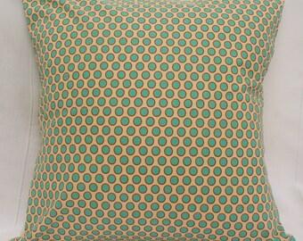 Polka Dot Aqua/Teal/Rust Orange Cushion Cover