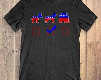 Siberian Husky T-Shirt Funny Gift: Vote Siberian Husky For President