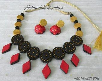Terrakotta-Halsband-Set