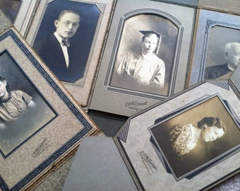 Antique Photographs. Collection of Black and White Photographs. Early 1900s Lot of Woman and Men  Portrait Photographs. Paper Ephemera.