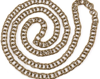 Style C Chain - Antiqued Imitation Gold (STEAM041)