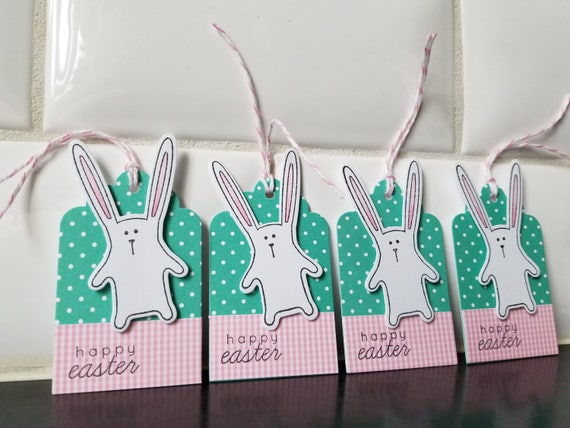 Easter basket gift tags set of 5 easter hang tags easter negle Image collections