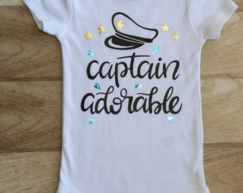 captain adorable onesie