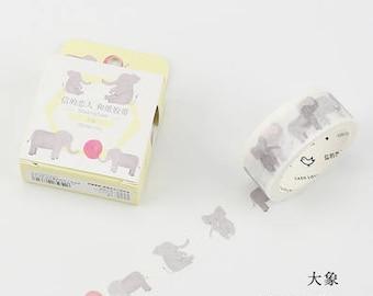 Elephants - Elephant Washi Tape - Animal Washi Tape - Baby Elephants - Cardlover (20mm X 7m)