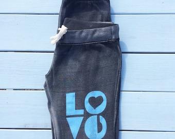 LOVE - Graphite Sand Washed Sweat Pants