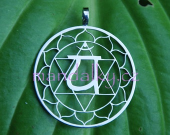 4th Chakra pendant (1 3/8 inch) - Stainless Steel