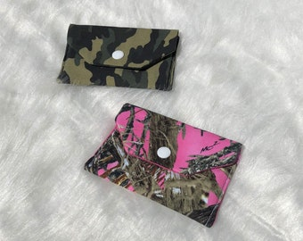 Camo snap pouch
