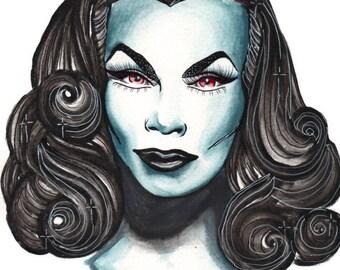 Vampira painting