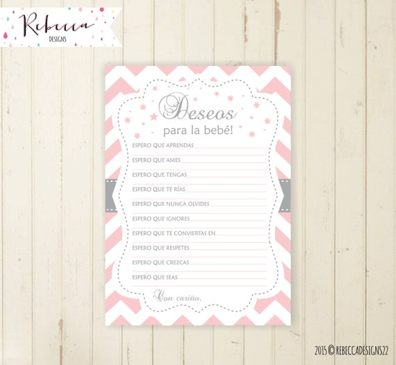 Baby Shower Wishes For Baby In Spanish Deseos Para La Bebe