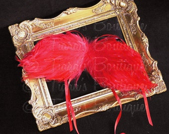 Angel Wings Baby Photo Prop - Red Feather Angel Wings Fully Poseable for Newborn Photography