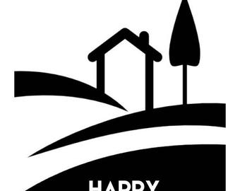 Happy Housiversary Black and White Cards - Realtors 1 Year House Anniversary Cards Digital Download Printable